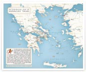 map of Heracles taskes in Greece thumbnail