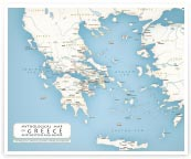 Mythological map of Greece