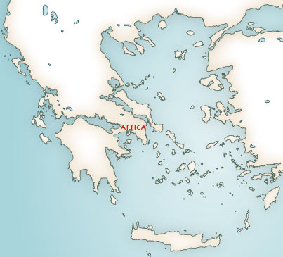 Greek Mythology maps - Mythological map of Greece