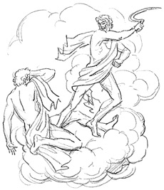 Cronus casts Uranus from his throne